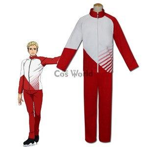 YURI!!! on ICE Christophf Giacometti Coat Jacket Pants Sportswear Jersey Uniform Outfit Anime Cosplay Costumes