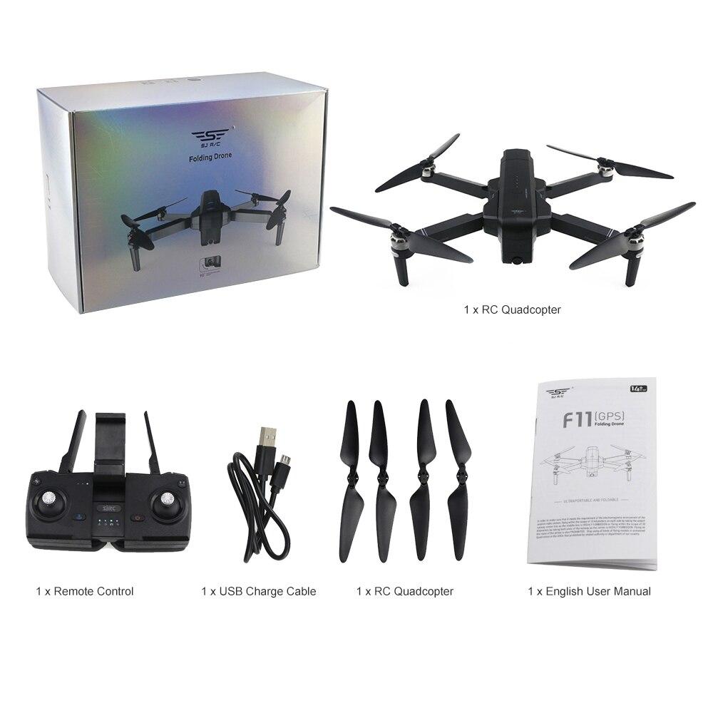 Sjrc f11 gps 5g wifi fpv rc drone-rtf 25 minutos de tempo de vôo sem escova selfie 5g wifi fpv quadcopter com câmera 1080 p hd