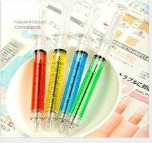 2500 pièces/ensemble Fedex expédition rapide mignon coréen usine papeterie aiguille seringue aiguille stylo à bille vente en gros seringue stylo enfants jouet stylo