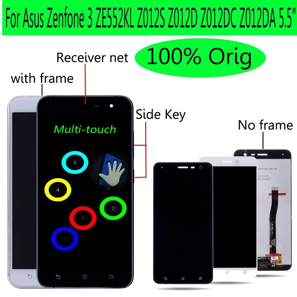Shyueda Orig 5,5 para Asus Zenfone 3 ZE552KL Z012S Z012D Z012DC Z012DA Digitalizador de pantalla táctil de pantalla LCD con marco y herramientas