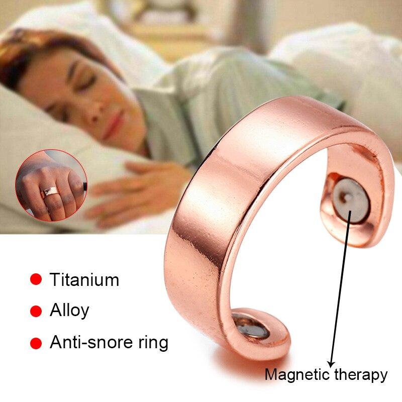 Dispositivo antironquidos, acupresión, aleación de titanio, terapia magnética, tratamiento de anillo antirronquidos, reflexología, dispositivo antiapnea para dormir