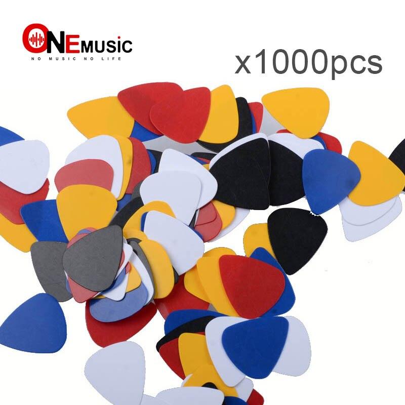 1000 piezas con forma de corazón ABS guitarra elegir 0,5mm eléctrica acústica Bass guitarra Pick plectrum guitarra instrumento musical