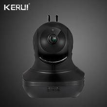 KERUI-caméra de Surveillance 1080P   Stockage en nuage, noir, Wifi IP, 2 voies, alarme dactivité Audio, Webcam intelligente