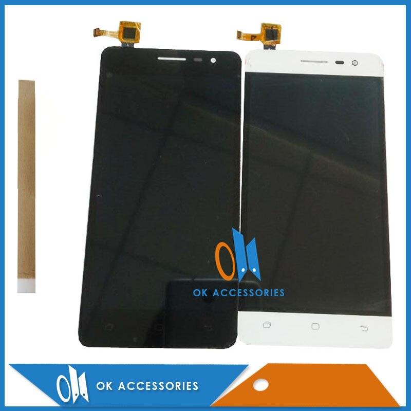 Tela lcd + digitalizador touch screen, cor preta branca, para hisense c20, alta qualidade com fita