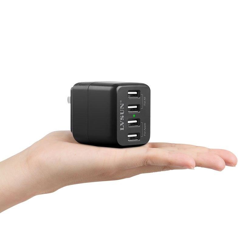 Cargador de pared de viaje USB de 4 puertos para iPhone 6 5S iPad Samsung Galaxy s6 s5 s4 Note EU/US/UK/KR/AU enchufe adaptador de corriente CA opcional