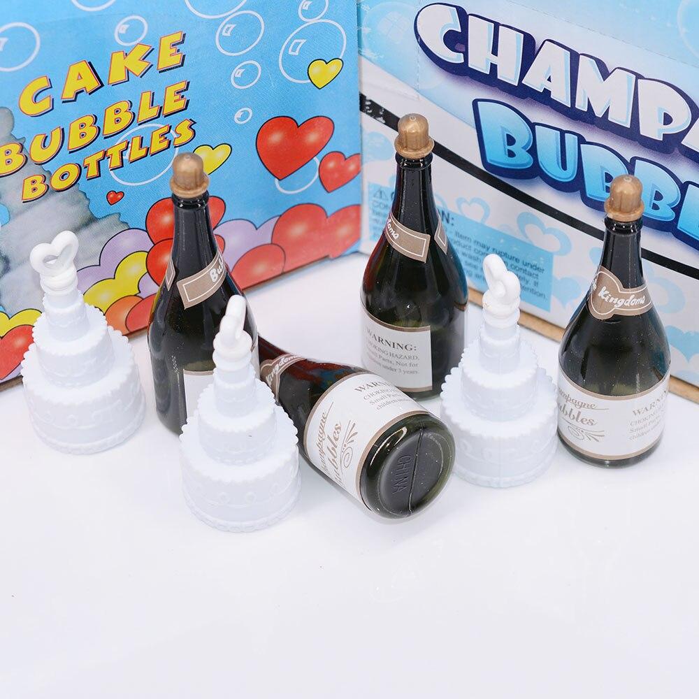 12 Uds verde vacío Mini Champagne pastel botella para burbujas Hollywood boda fiesta juegos bebé ducha adornos de feliz cumpleaños