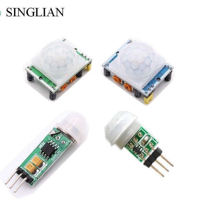 HC-SR501 HC-SR505 AM312 ajuste IR infrarrojos piroeléctrico Mini PIR módulo Detector Sensor de movimiento soporte para módulo para Arduino