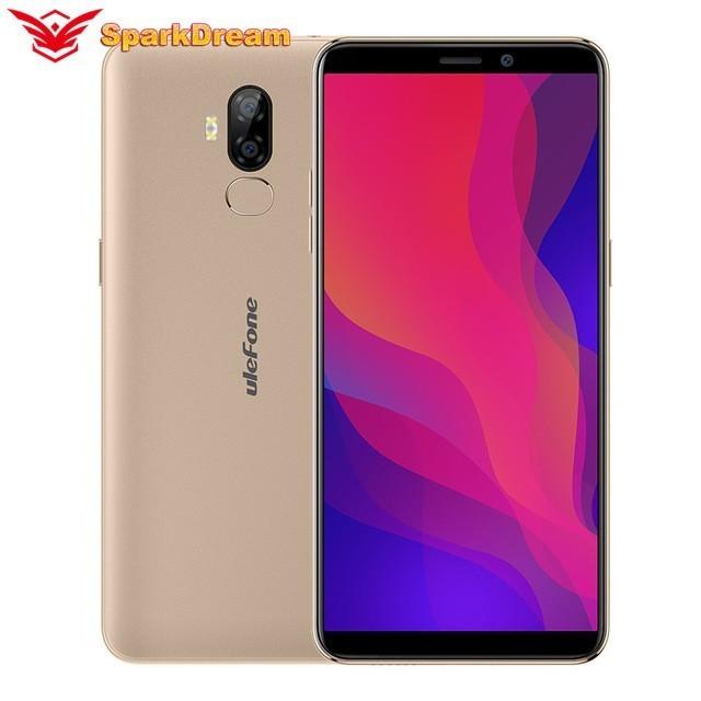 Ulefone P6000 Plus teléfono inteligente de 6,0 pulgadas 189 HD + Android 9,0 de 6350mAh MT6739 Ouad Core 3GB 32GB identificación facial 4G LTE móvil teléfono