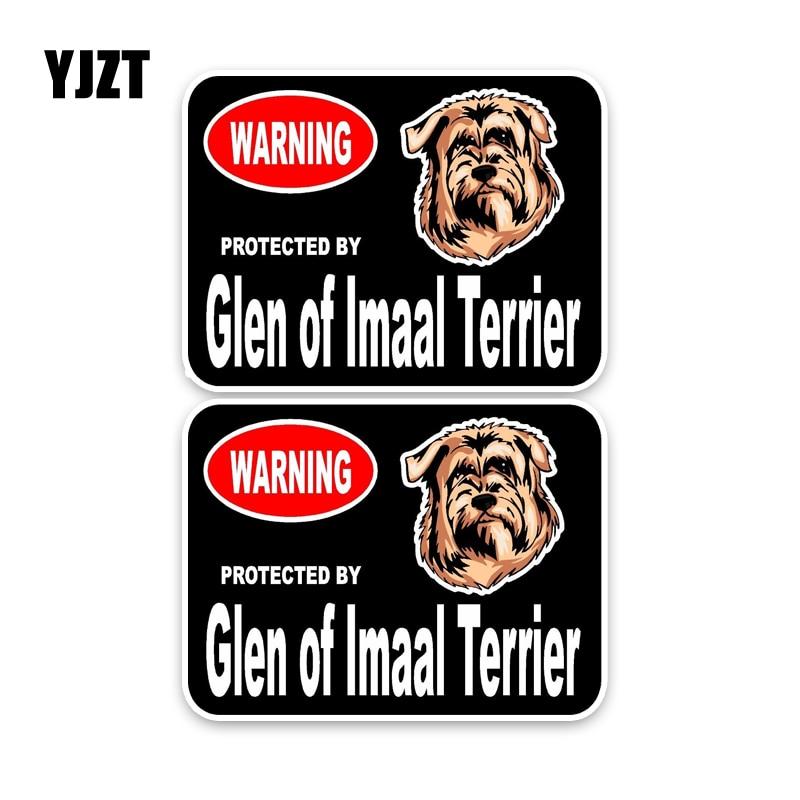 YJZT 15*11,4 см 2X Glen of Imaal Terrier Guard Dog Personality светоотражающие наклейки для автомобиля C1-4424