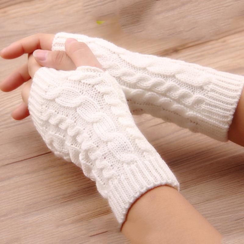 Фото - Fashion Women Gloves Stylish Hand Warmer Winter Gloves Women Arm Crochet Knitting Faux Wool Mitten Warm Fingerless Gloves wool mittens warm fingerless gloves black hand warmer winter knitting gloves fashion gloves women arm wrist sleeve hand warmer