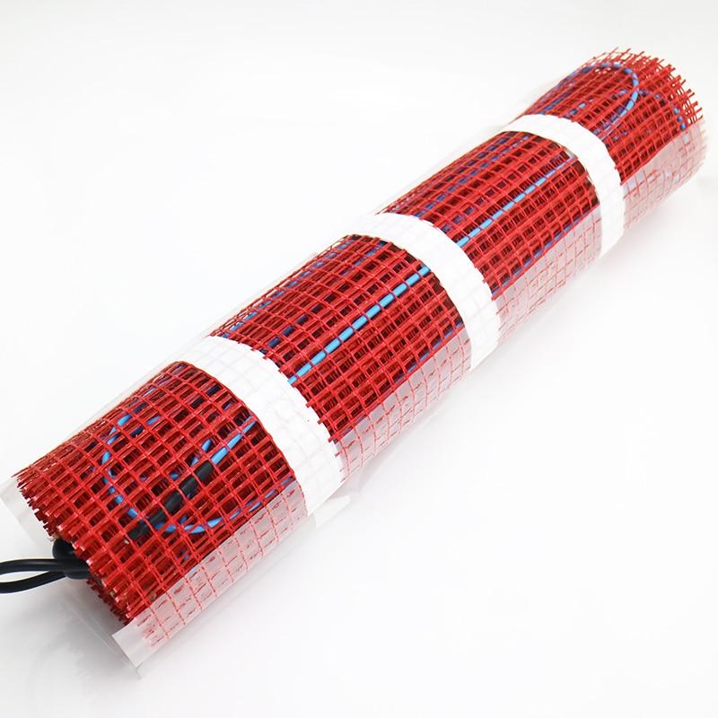 Sistema de calefacción por Cable eléctrico debajo del suelo, 900W, 6,0 m2, envío gratis, con alfombrillas autoadhesivas para sala de estar