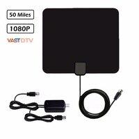 50 Mile HDTV dtv-T2/T/ isdb-t atsc Antenna- Indoor Long Range Amplified HD Digital USB TV Aerial Signal Booster Upgraded Version