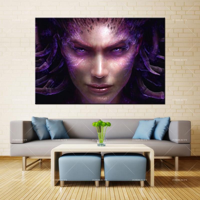 Pintura al óleo de lienzo de Forbeauty, arte de pared, Corazón del enjambre, impresión en aerosol de La Reina, tinta impermeable, decoración del hogar