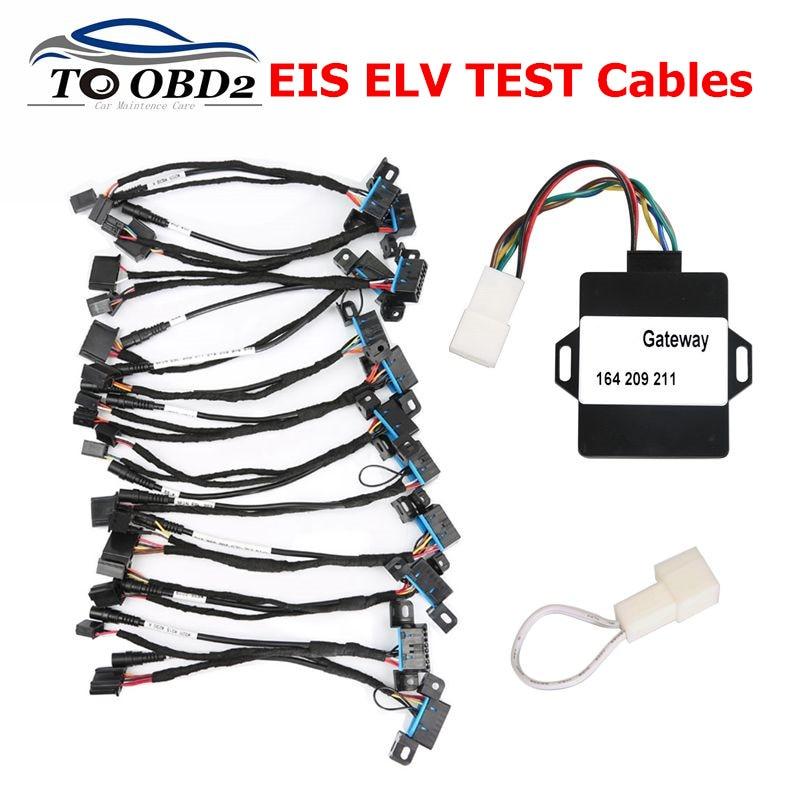 12 pcs/set For Mercedes Test Cable of EIS ELV Test Cables for Mercedes FOR BENZ Works Together with VVDI MB BGA Tool free ship