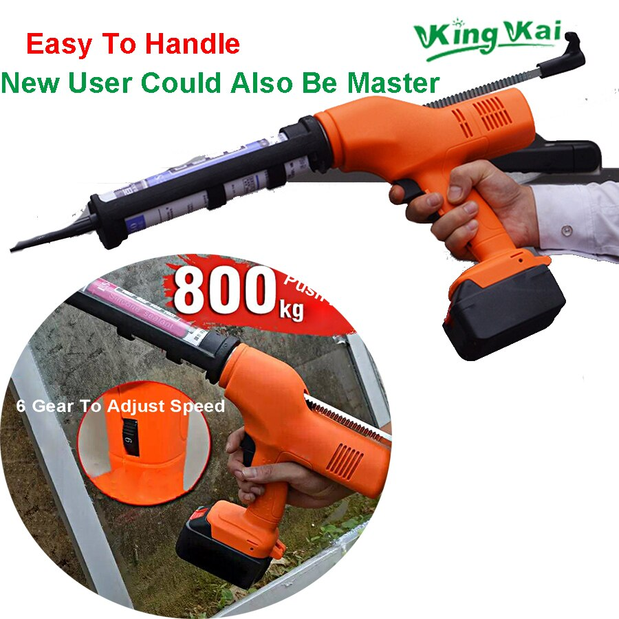 21V 18000mah Lithium Battery Window Wall Electric Cordless Glass Glue Gun Machine For House Decoration enlarge