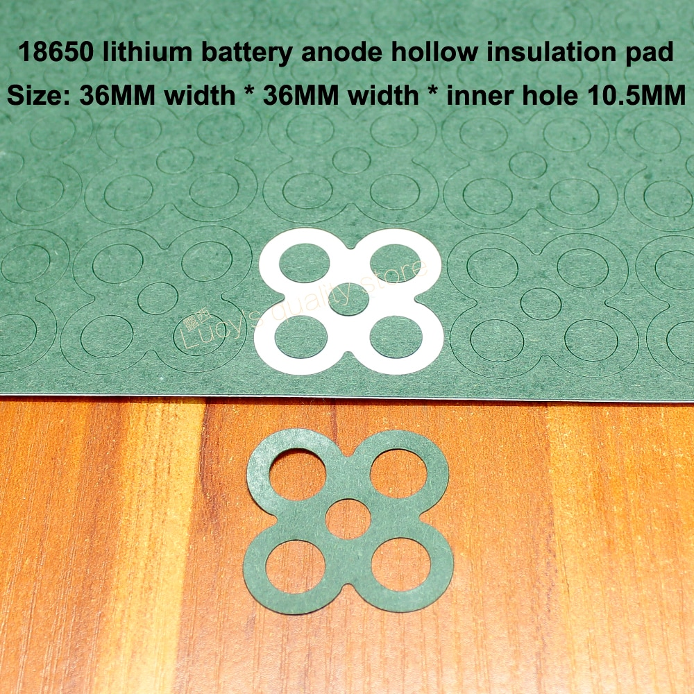 100pcs/lot 18650 Universal Lithium Battery High-Temperature Insulation Gasket 4S 4-Cell Surface Pad