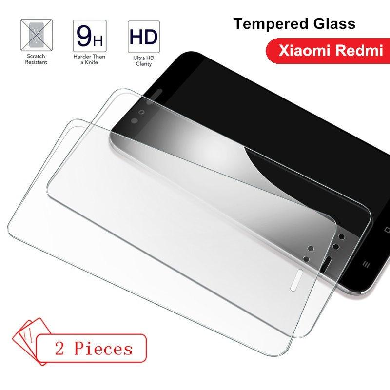 2 piezas de vidrio templado para Xiaomi redmi 6 6A 7 7A K20 Pro 4X4 5X5 plus redmi Nota 5 6 protector de pantalla 7 Pro 9 H película endurecida