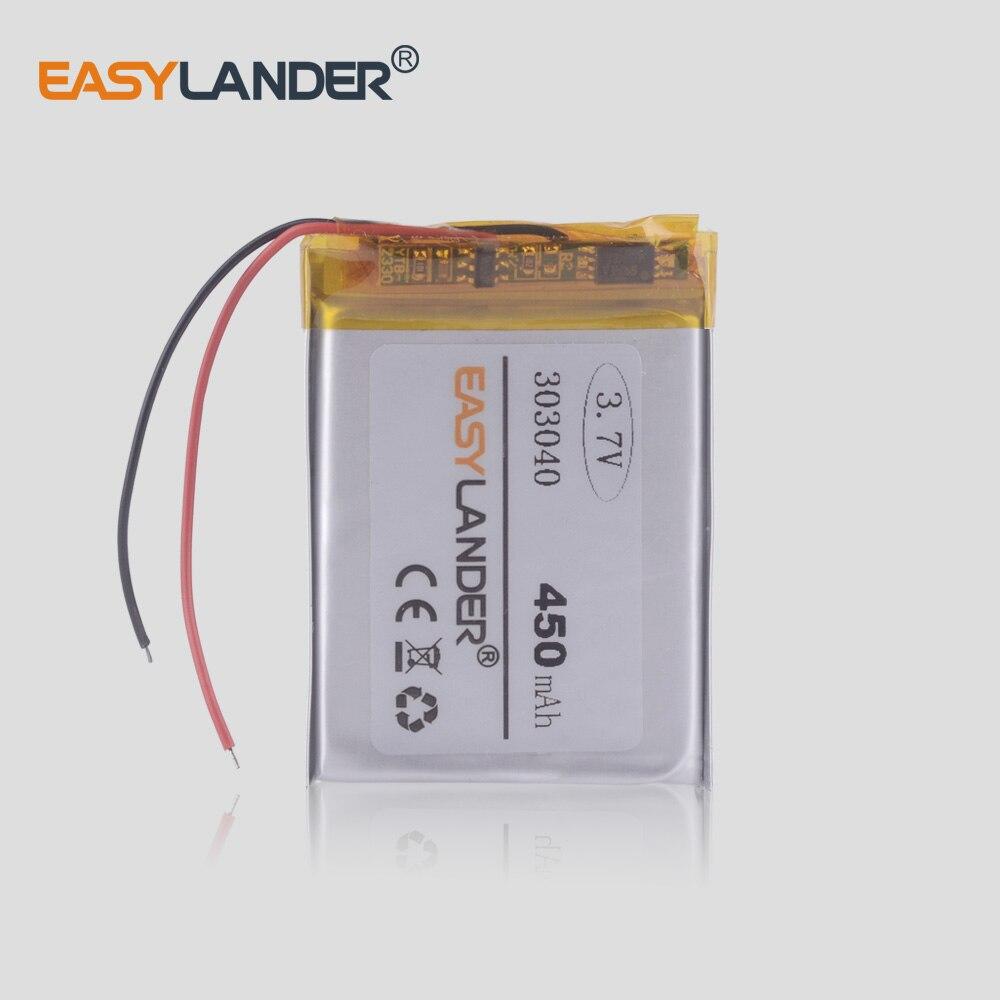 Reproductor Mp3 Mp4 Gps Juguete Pequeño fino 303040 283040 282840 batería recargable de polímero 450mah baterías de iones de litio grabador DVR