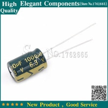 50 sztuk 6.3 V 1000 UF 1000 UF 6.3 V Aluminium kondensator elektrolityczny rozmiar 8*12 MM 6.3 V /1000 UF kondensator elektrolityczny darmowa wysyłka