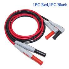 Enchufes Banana de 1000V 15 a 4mm para enchufar Cable de prueba de multímetro de 1M Cable de silicona