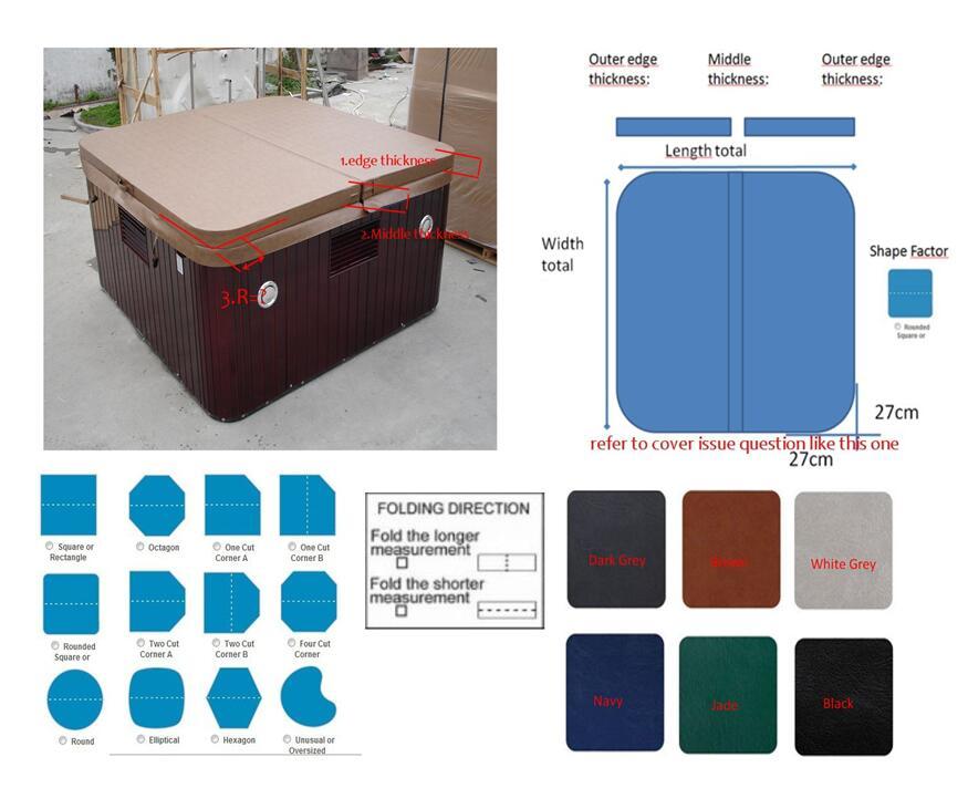 مطلوب غطاء بطانية 2.05 × 2.05 الأوسط سمك 6.5 سنتيمتر غطاء حافة سمك 6.00 سنتيمتر دائرة نصف قطرها الزاوية 10 سنتيمتر غطاء اللون رمادي
