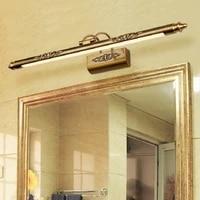 Lampe europeenne retro pour miroir cosmetique  500mm  8W  maquillage  applique murale en Bronze pour salle de bain  decoration darmoire