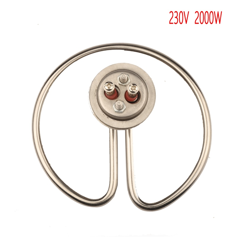 "Tapa de 230V 2000W 32mm elemento de calentamiento Circular único para máquina de vapor de arroz 1 ""tubo electrotérmico de anillo de cubierta"