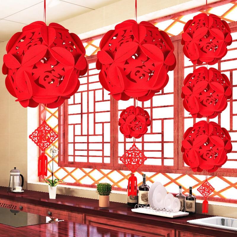 China Fu letters Lantern Chinese New Year Decorations Christmas Decorations For home New Year 2019 Decor Good Fortune Lantern