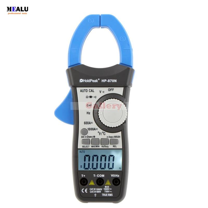 HP-870N-multímetro de rango automático medidor de Pinza Digital, amperímetro, Pinza, valores eficaces...