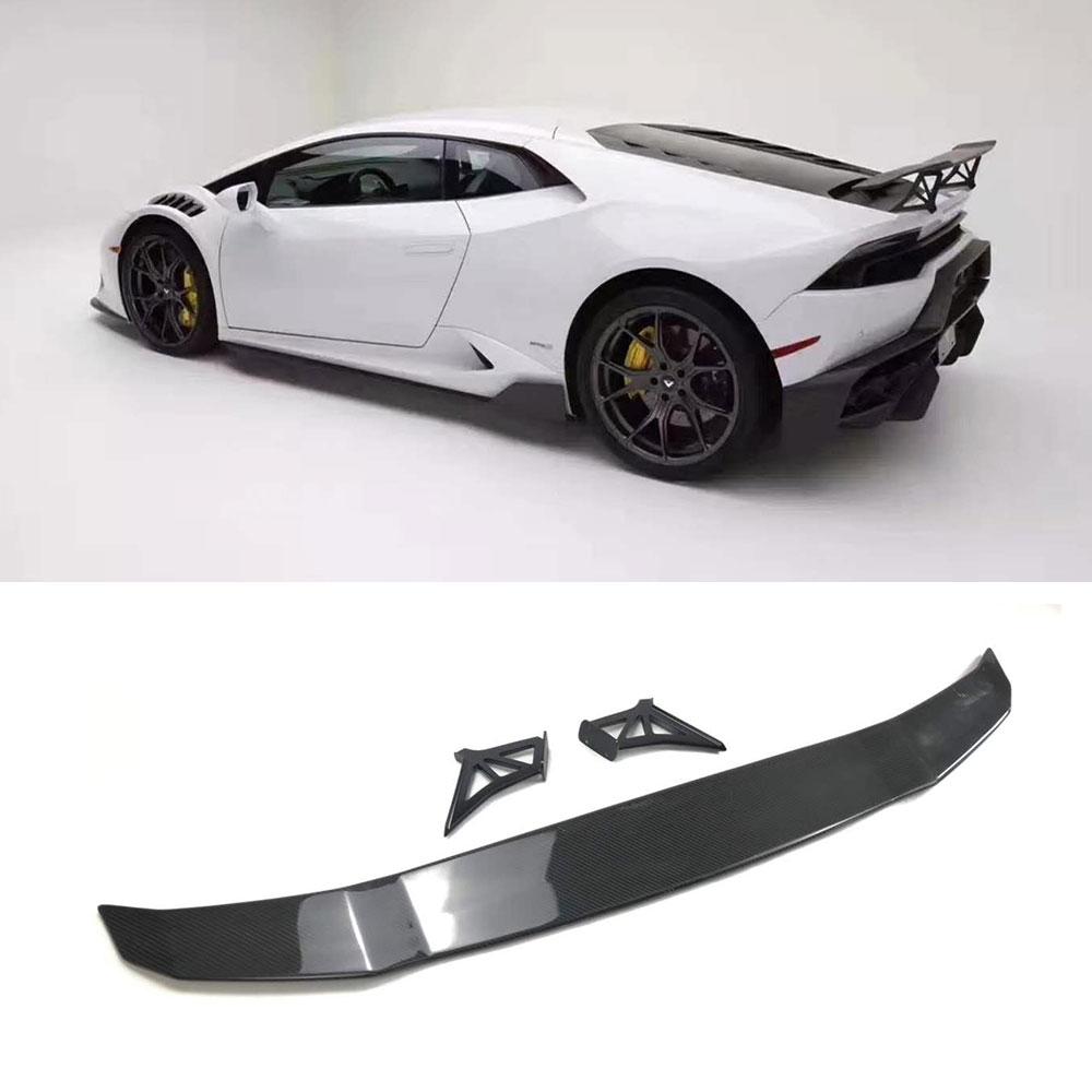 Dry Carbon Fiber Rear Trunk Spoiler Wings Case for Lamborghini Huracan LP610 LP580 2014-2018 GT style car styling
