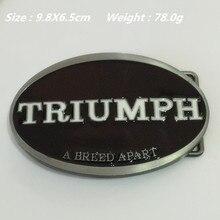 Boucle de ceinture TRIUMPH 9.8*6.5cm 78g   Nouveau Style de détail, ovale noir blanc métal pour ceinture de 4cm de large avec accessoires pour hommes et femmes