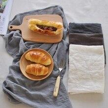 Serviettes de Table en coton et lin 45*65cm   Tapis solide et Simple de Style japonais, serviettes de Table, serviettes de cuisine, napperons