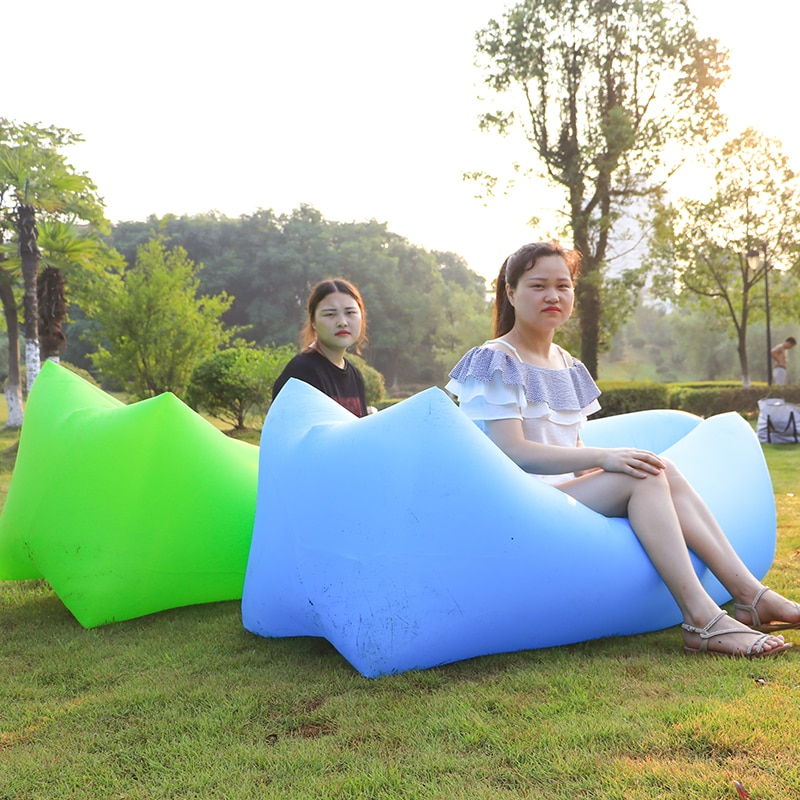 Легкий спальный мешок, водонепроницаемый надувной мешок, ленивый диван, кемпинг, спальные мешки, воздушная кровать для взрослых, Пляжное Кресло для отдыха, быстро складывается