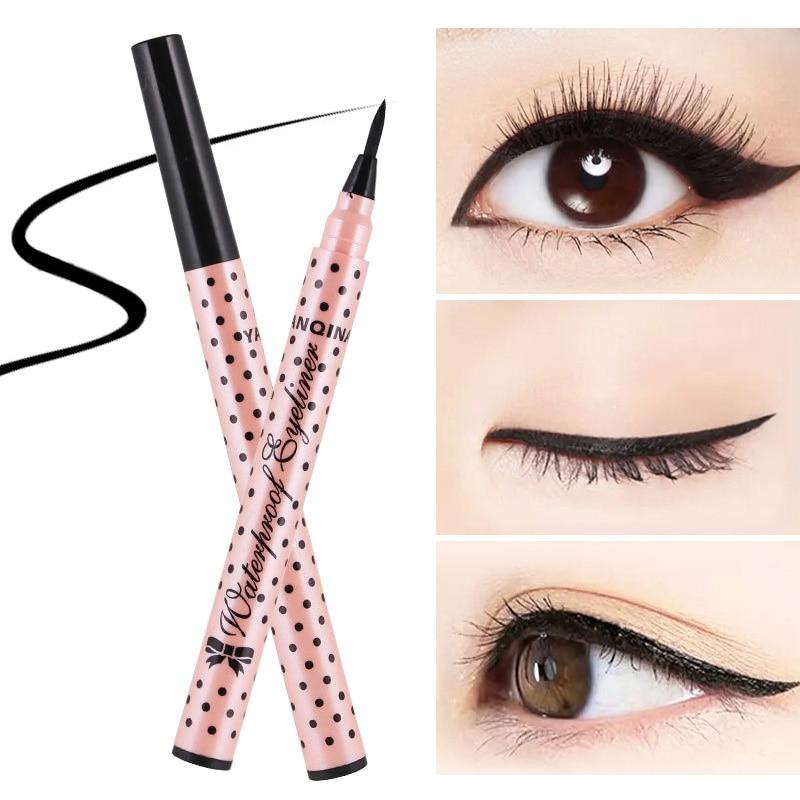 Dropshipping Eyeliner Liquid Pen Quick Fast Dry Waterproof Black Makeup Cosmetics Beauty Gift SMJ