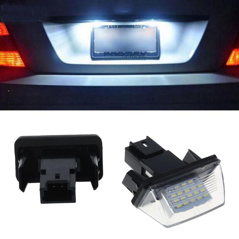 1 par de 18 LED luces para placa de matrícula lámpara para Peugeot 206, 207, 307, 308, 406 Citroen C3/C4/C5/C6
