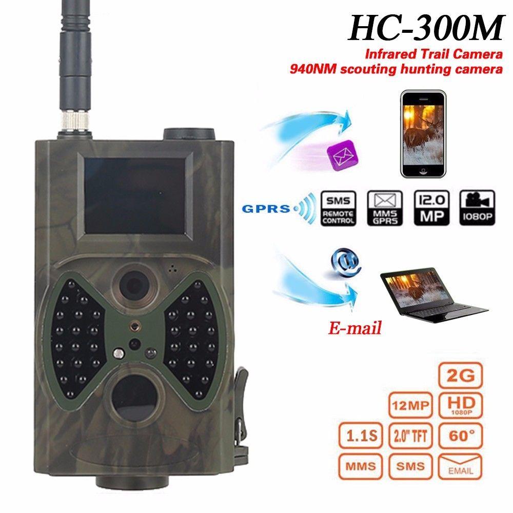 Piège à Photo 12 mp pour chasse   MMS GSM 1080P, piège de chasse à Vision nocturne HC300M, caméra de chasse sauvage, caméra de chasse pour la faune