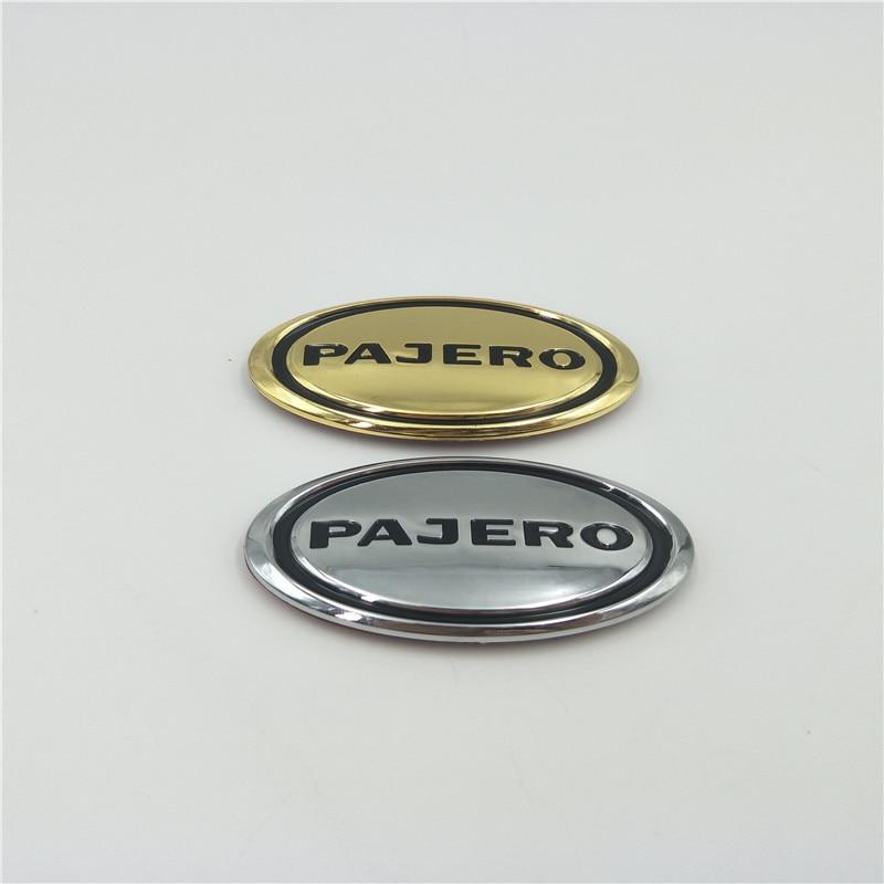 For Mitsubishi Pajero Logo Emblem Car Fender side Badge sticker Decals Decoration