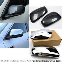 For Renault Kadjar 2016 2017 2018 2019 ABS Chrome Decoration Car Rear View Rearview Side Glass Mirror Cover Trim Frame 2pcs