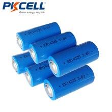 6 pièces PKcell ER14335 1650mah LiSOCL2 batterie 2/3AA type dénergie pour caméra vidéo équipement électrique sans fil