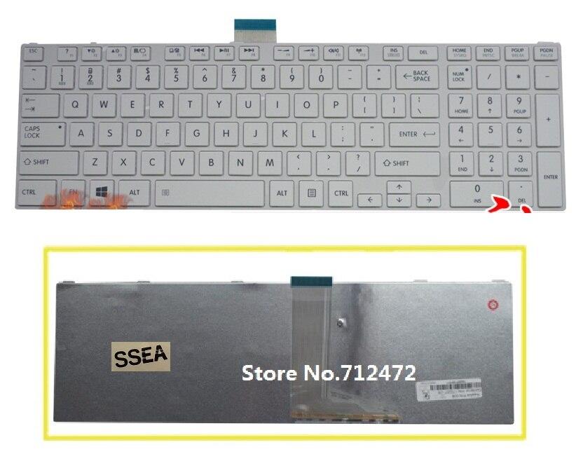 LAESS Nouveau Clavier AMÉRICAIN blanc pour Toshiba Satellite S850 S855 S870 S875 S855D P850 P850D P855 P855D P870 P870D P875 P875D