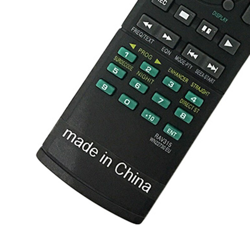 ABS negro Control remoto reemplazo perfecto para YAMAHA HTR-6230 HTR-6130 RX-V450 RX-V650 RX-V730RDS videodisco