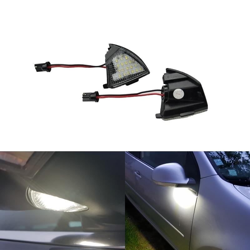 Fits For VW MK5 MKV Golf 5 Passat B6 CC EOS Rabbit Golf 5 6 Variant Led Under Mirror Side Puddle Lights CANbus No Error