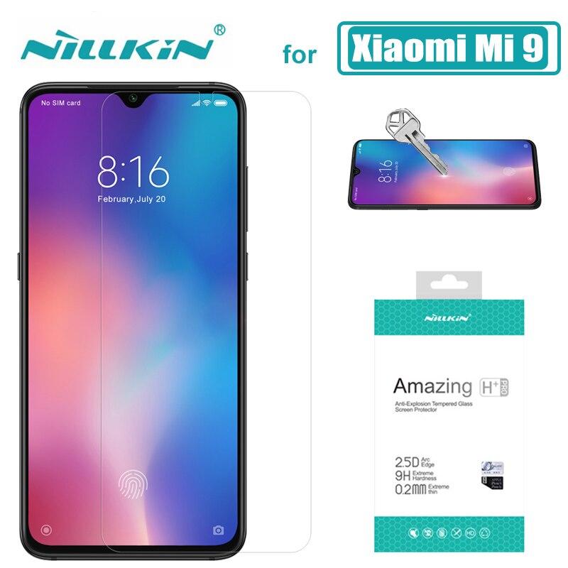 Para Xiaomi mi 9 Lite mi 9T mi 9 mi 8 DE Nillkin 9H HD protector de pantalla de vidrio templado Xiaomi mi 9T 9 8 iPhone 6 rojo mi K30 5G K20 Pro