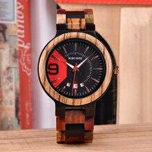 BOBO BIRD V-Q13 montres de luxe en bois pour hommes montre Quartz Date horloge qualité produits chinois livraison directe relogio masculino
