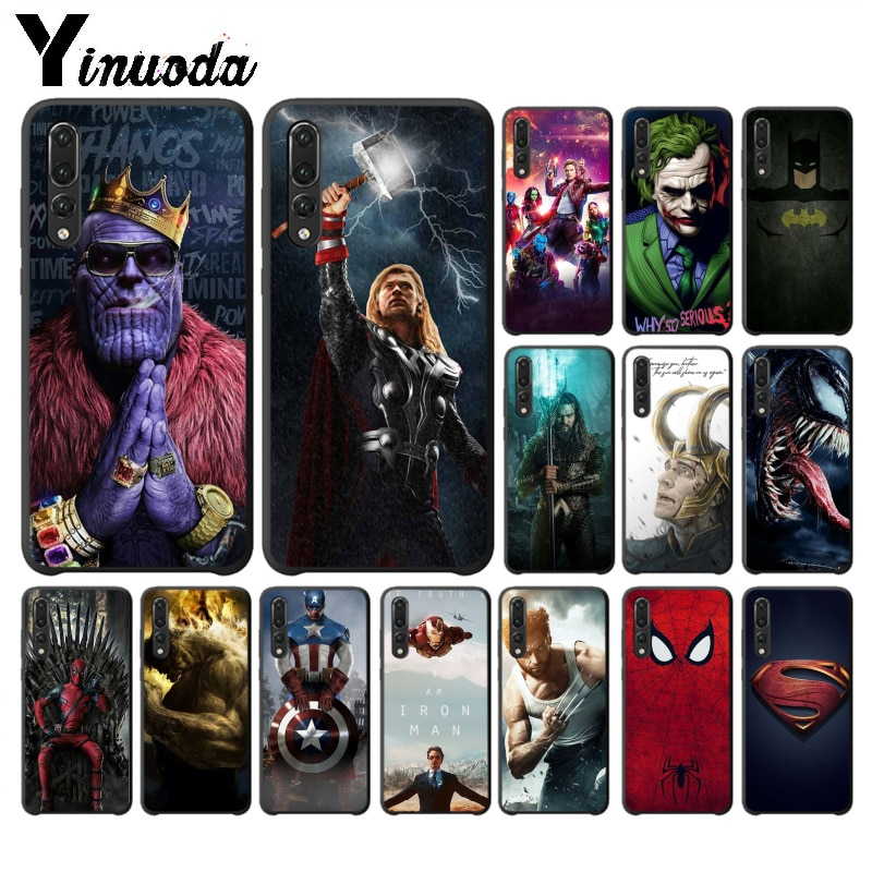 Чехол для телефона Yinuoda MARVEL DC супергерой Супермен Человек-паук для Huawei P10 plus 20 pro P20 lite mate9 10 lite honor 10 view10
