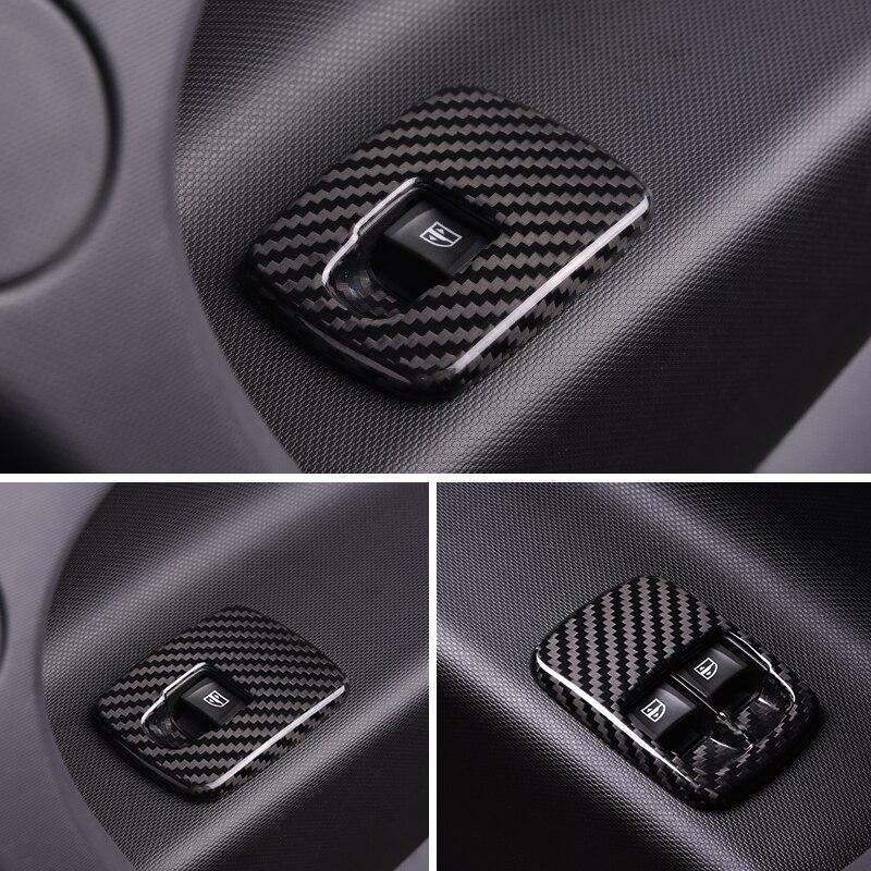 2 шт. Автомобильная оконная подъемная кнопочная панель из нержавеющей стали украшение для нового smart 453 fortwo forfour модификация автомобильного ...