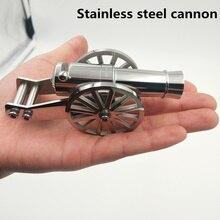 Acier inoxydable Miniature napoléon canon métal Naval modèle de bureau Kit dartillerie pour la Collection un projectile peut être tiré