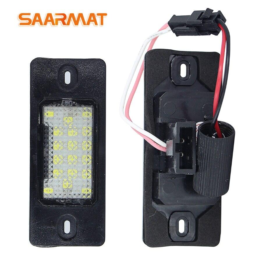 2Pcs/Set Canbus Error Free LED Number License Plate Lights Base For VW Touareg Tiguan Golf 5 Passat B5  Car-Styling bulb