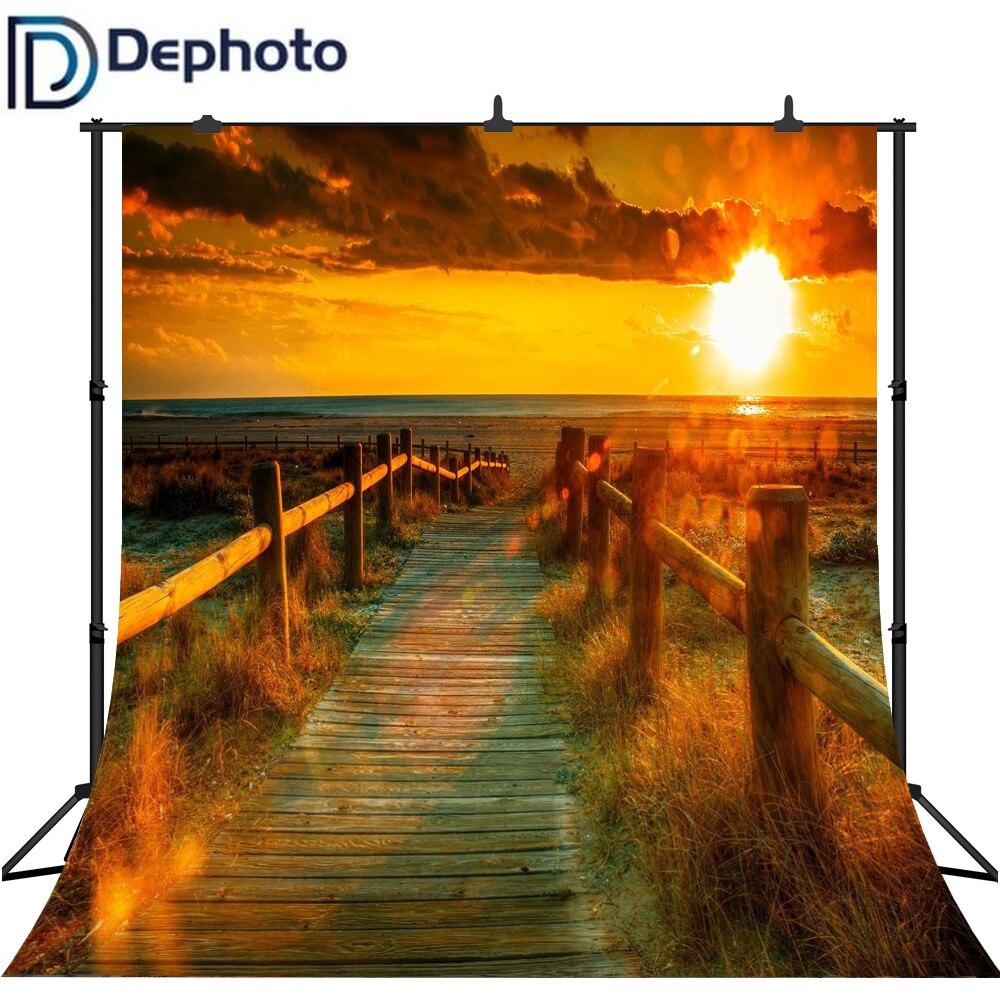 Dephoto Dämmerung Sunset Jetty Road Meer Landschaft Fotografie Kulissen Vinyl Fotografische Hintergründe Für Foto Studio