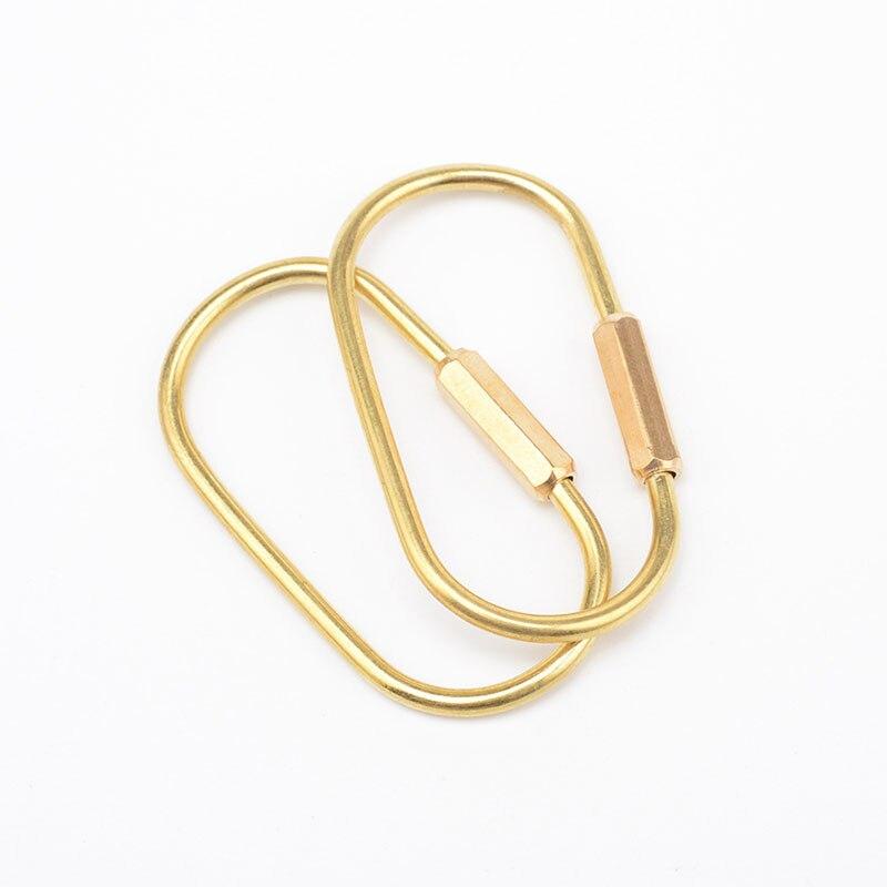 LLavero de latón simple RE 2018, llavero dorado hecho a mano, llavero de metal para coche EDC gadget, llaveros para hombre, regalo de novio D0535